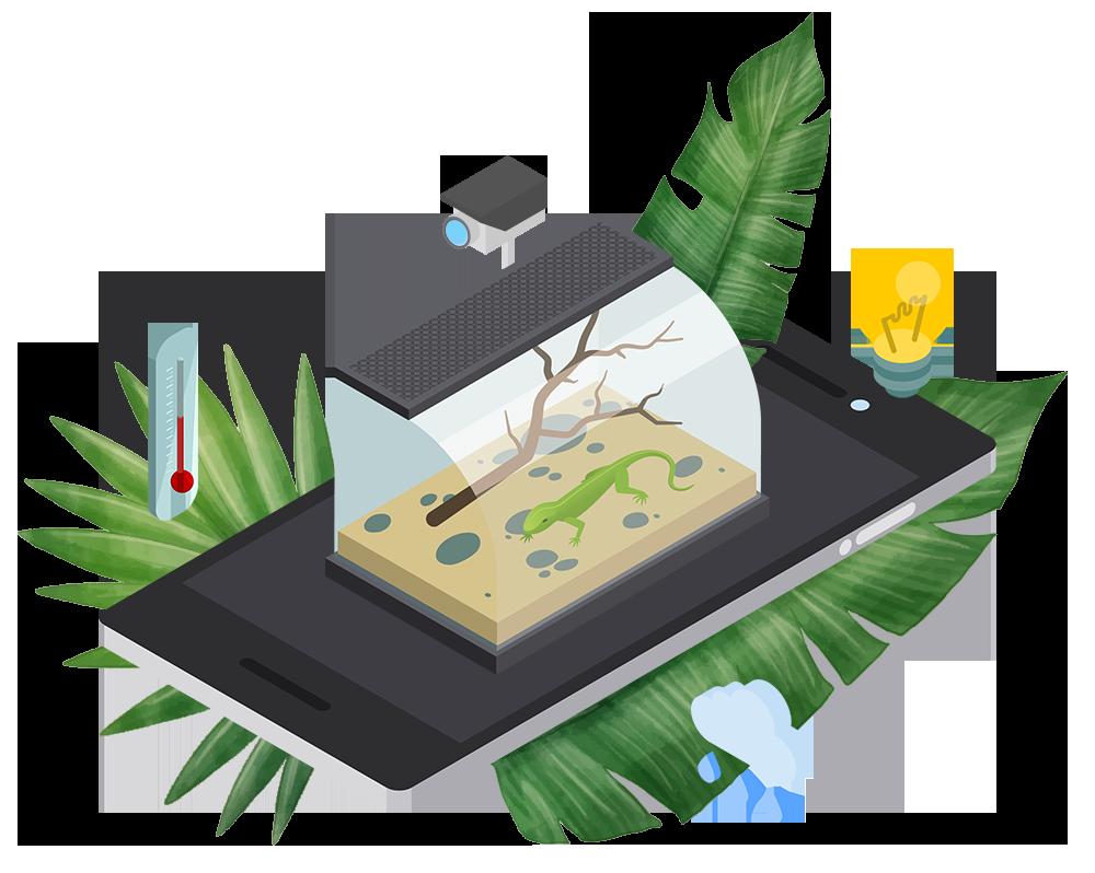 Terrarium Steuerung per App